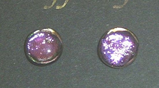 """""""HOT PINK"""" Dichroic Glass Earrings"""